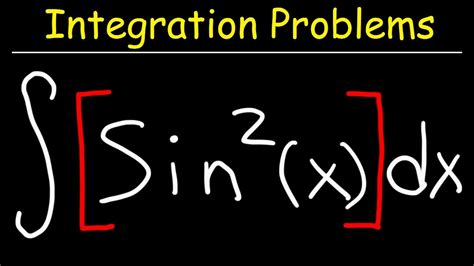 Integral of Sin^2x - YouTube