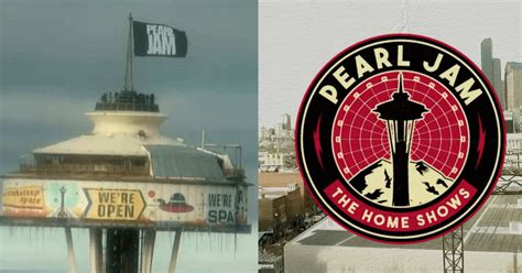 Pearl Jam Raises Band Flag Atop The Space Needle To