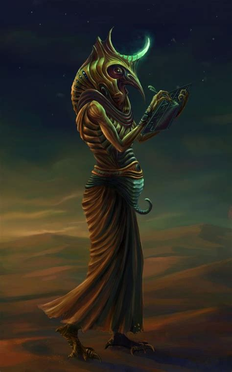 Thoth is the Egyptian god of the mind - of intelligence