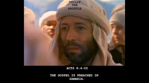 Acts 8:4-25 The Gospel is Preached in Samaria - Sunday May