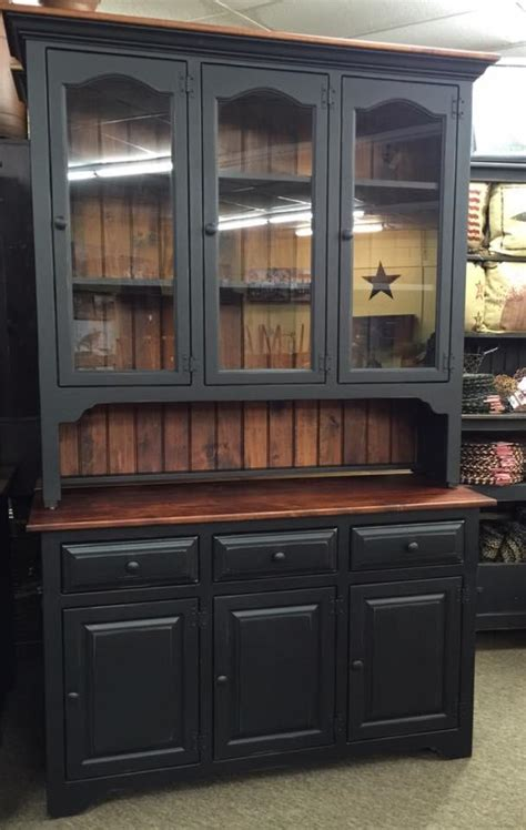 Black with Michael's Cherry 3 Door Hutch – KC Country Home