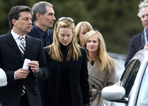 Laura Linney in Family And Friends Attend Services For