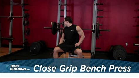 Close Grip Bench Press - Tricep / Chest Exercise