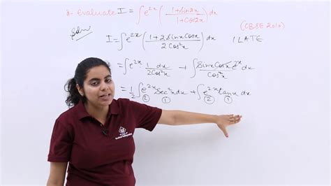 Integral of e^2x (1 + Sin 2x/1 + Cos 2x) dx - YouTube