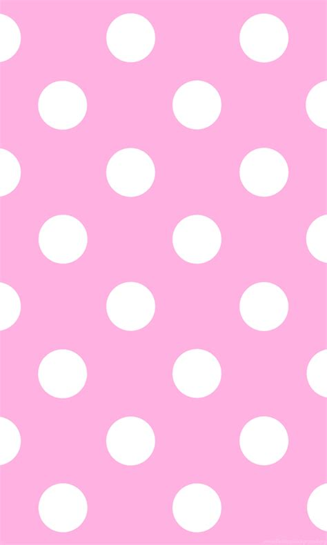 Wallpapers Pink And White Polka Dot Dots Pattern Free Clip